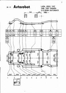 Контрольные точки кузова ВАЗ 2109 (изображение 3)