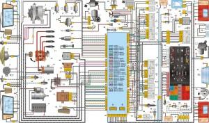 Электрическая схема автомобилей ВАЗ 2109, 2109, 21099 с низкой панелью приборов