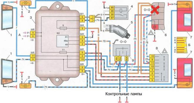 Схема аварийки ваз 2108