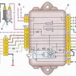 Схема подключения стеклоочистителей (дворников)