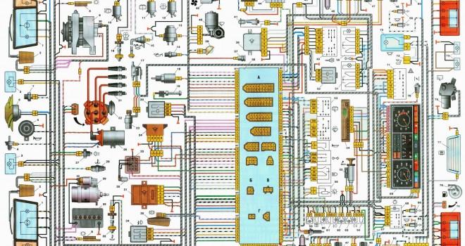 shema vp 660x350 - Схема проводки ваз 21099 инжектор высокая панель