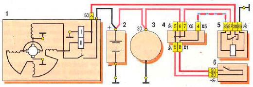 Схема подключения стартера на ВАЗ 2109