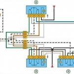 Схема подключения стеклоподъемников