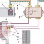 Схема подключения генератора 37.3701 (монтажный блок 17.3722)