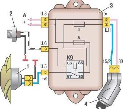 Схема реле вентилятора охлаждения фото 870