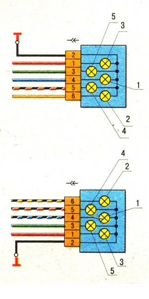Схема подключения задних фонарей ВАЗ 2109