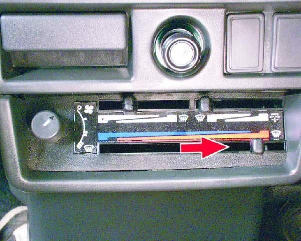 Управление краном радиатора и главной заслонкой ВАЗ 2109