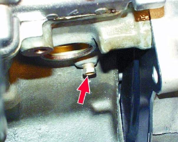 Заглушка для слива охлаждающей жидкости на блоке ВАЗ 2109