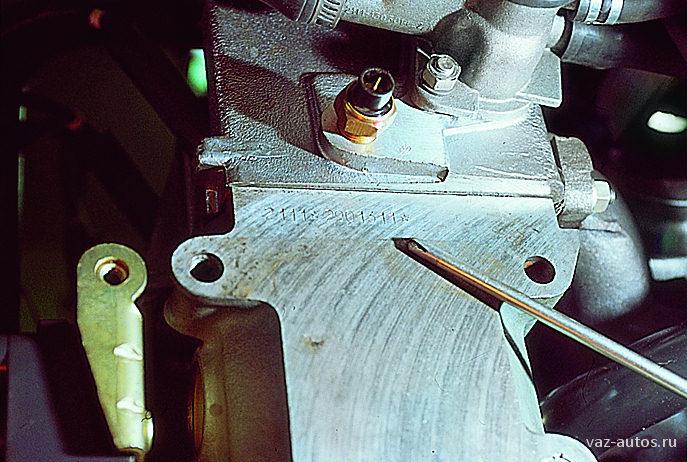 Где находится номер двигателя на ваз 2109